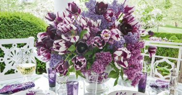 Purple-flower-arrangement